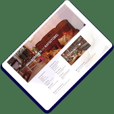 Restaurant Ratsstübel Homepage